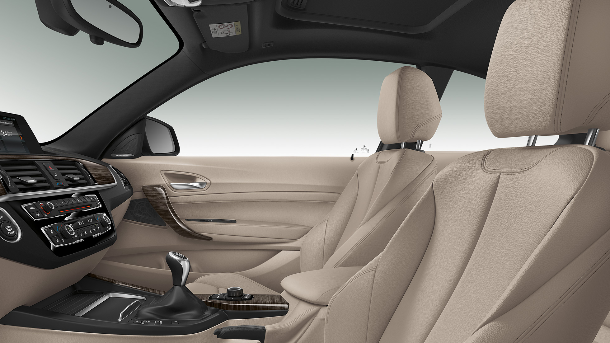 BMW Serie 2 Coupé, interior del Modelo Luxury Line
